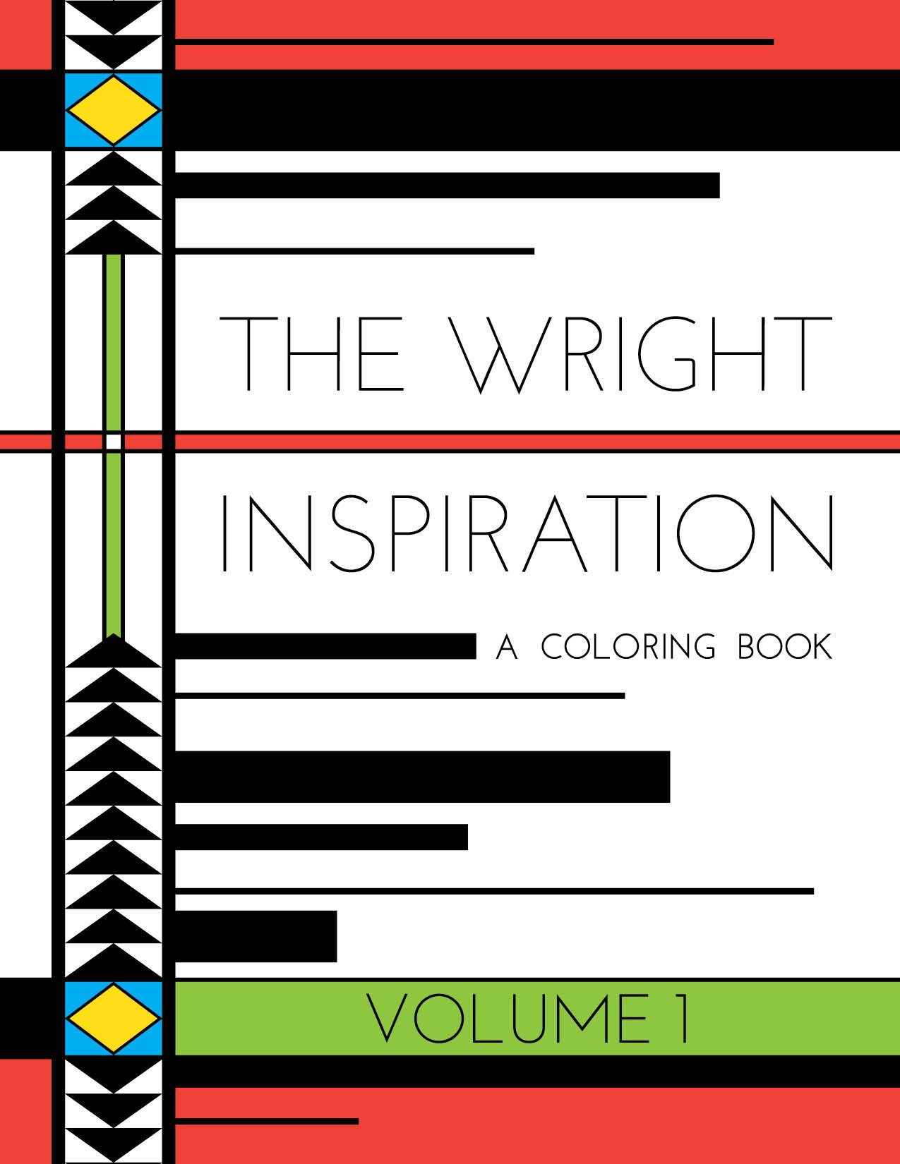 Frank Lloyd Wright Coloring Postcard Book | Galison | 1650x1275